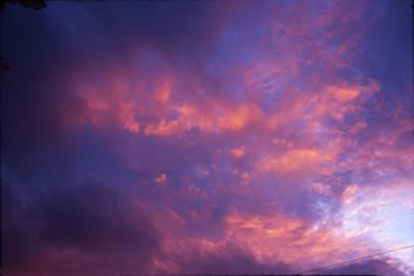 clouds at sunset, hudson, new york 2007 70 x 100 cm edition of 15