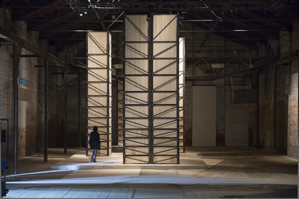Massa sepolta, 2013 Steel, wood, earth site specific installation dimension variable Exhibition view at Italian Pavillion, 55 Biennale di Venezia, Venezia 2013