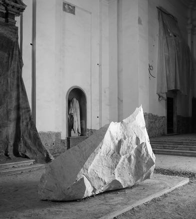Per ogni lavoratore morto, Postmonument installation view at the 14th Carrara Biennale 2010