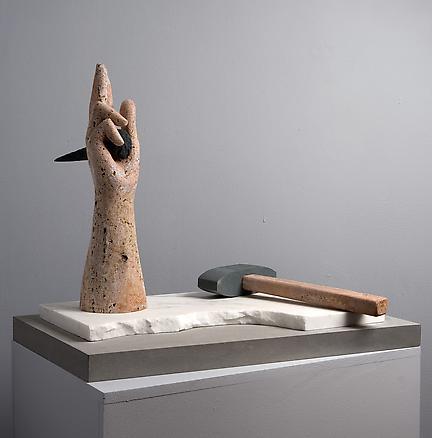 Hand 2009 marble sculpture sculpture  50.7 x 61 x 43 cm pedestal 111 x 64.7 x 44.5 cm plinth 120 x 67 x 46 cm