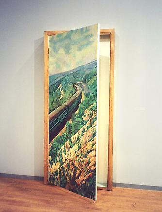 Charles Rosenthal: The Door 1917 1998 oil, wood, canvas 200 x 80 x 12 cm
