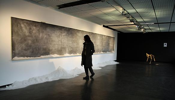 This same world over 2009 installation blackboard and power of chalk 120 x 840 x 8 cm