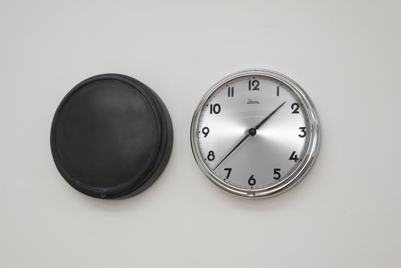 Alicja Kwade Heavy Weight of Daily Light, 2015 found clock, lead 52 x 24 x 7 cm