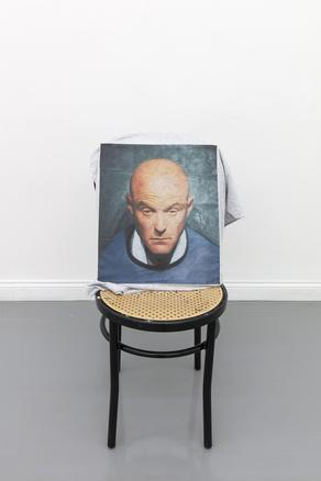 1984 (t-shirt) 2018 print on t-shirt, chair 45 x 35 x 85 cm