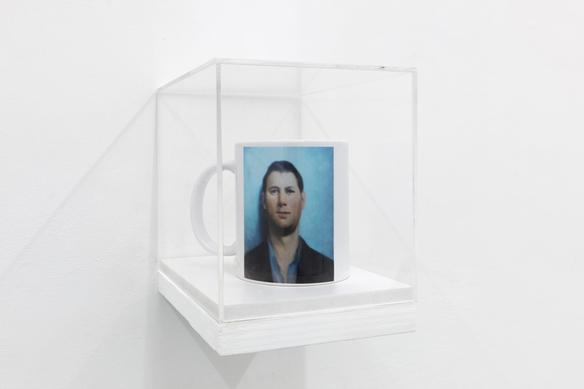 401k (mug) 2018 print on ceramic, plexiglass 17.5 x 13.5 x 15 cm