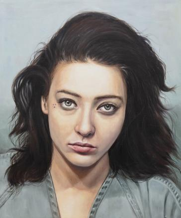 Mona Lisa 2018 oil on canvas 61 x 51 cm