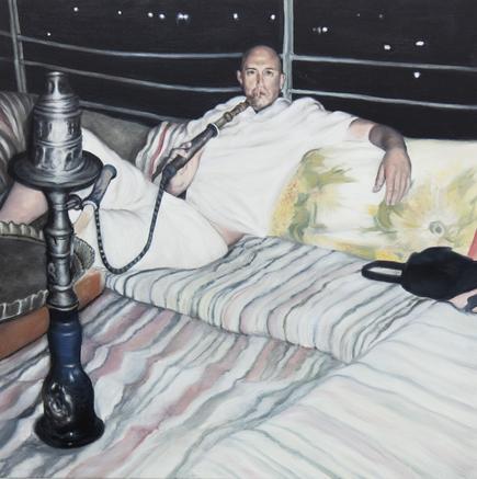 myspace 2018 oil on canvas 100 x 100 cm