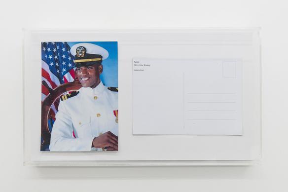 Sailor (postcard) 2018 postcard, plexiglass 20 x 36 x 4 cm