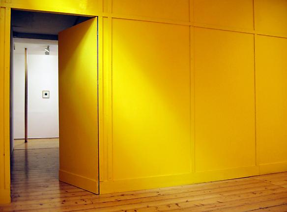 Temporary 2 2009 wood, yellow paint 291 x 469 x 9 cm