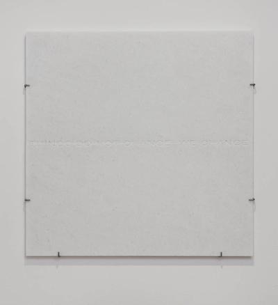 Horizon Thoreau 2016 pure white marble 70 x 69.1 x 2 cm