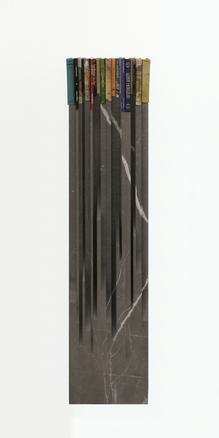 Lost Horizon 2017 stone (nero morocco) and books 159 x 34 x 16 cm