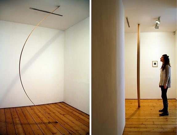 In so Far as 2009 wood, tape, numbers 360 x 8 x 0.7 cm