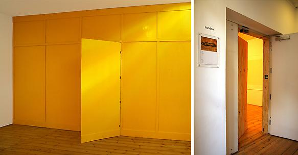 Temporary 2009 wood, yellow paint 291 x 471 x 7 cm