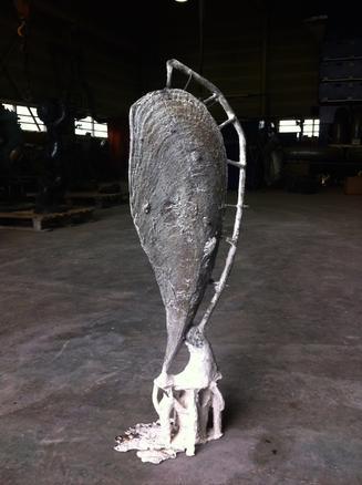 Shell B 2015 bronze 80 x 30 x 15 cm