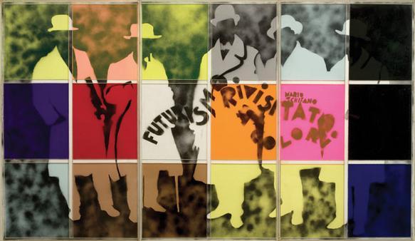 futurismo rivisitato a colori 1965