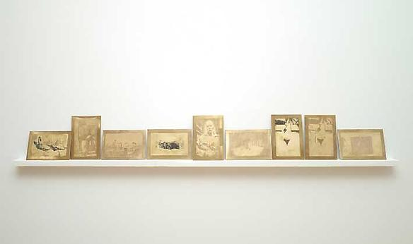 Morsura in ottone 2013 etching on brass, 9 plates each plate 10.5 x 15.5 cm