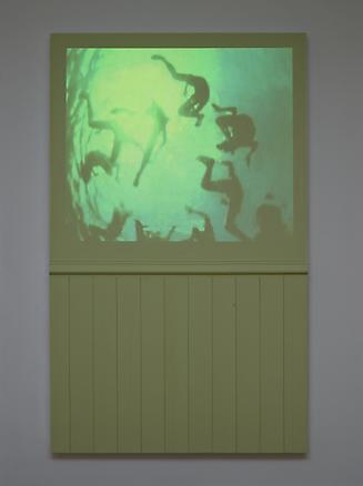 Marinella senatore The attic_studio#1 2013 wood, vinylic color, video HD on DVD,1':19'', mute wood panel 155 x 5.5 x 95 cm