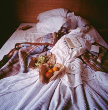 My bed, Hotel La Louisiane, Paris 1996 cibachrome print 76.2 x 76.2 cm