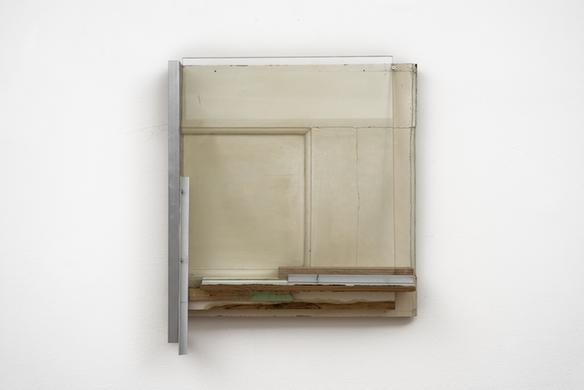 Pedro Cabrita Reis The Carpenter Suite #11, 2018 found wood, glass, aluminium 55 x 47 x 12 cm