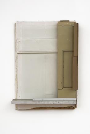 The Carpenter Suite #9  2018 found wood, glass, cardboard, aluminium 64 x 45 x 13 cm