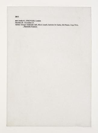 Pietro Roccasalva Cosa sono le nuvole (What the clouds are) 2013 marble, ink 29.7 x 1.9 x 21 cm