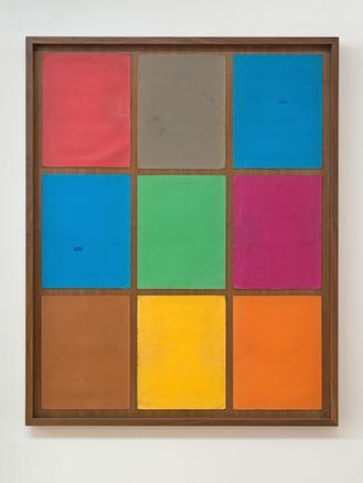 Thomas Rentmeister Untitled, 2014 cardboard, wood, glass 107 x 86 x 4,5 cm