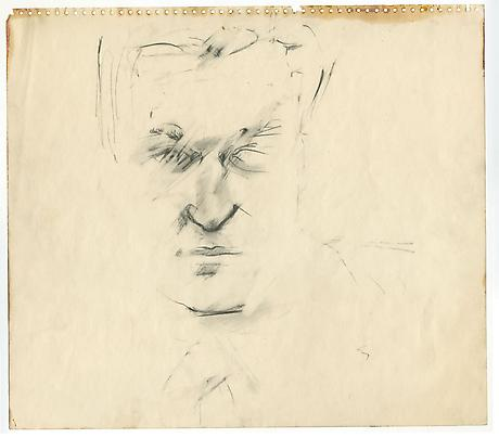 LARRY RIVERS John Ashbery 1962 pencil on paper 14 x 17 inches Private Collection