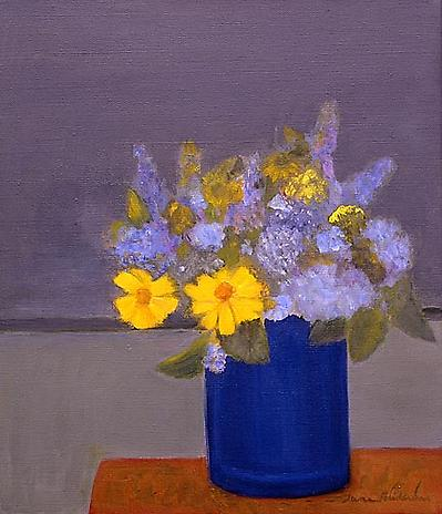 Coreopsis 2004 oil on linen 14 x 12 inches