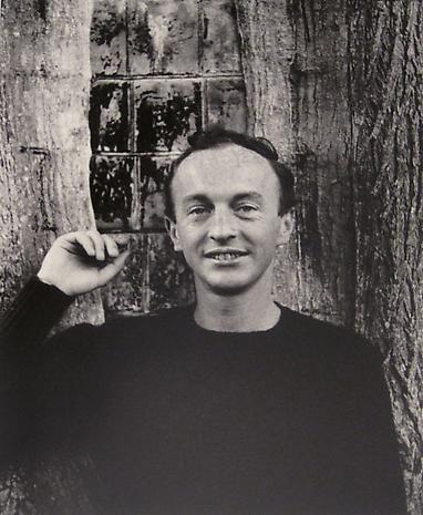 JOHN JONAS GRUEN Frank O'Hara Smiles, Southampton, NY 1961 gelatin-silver print 13 x 10 inches