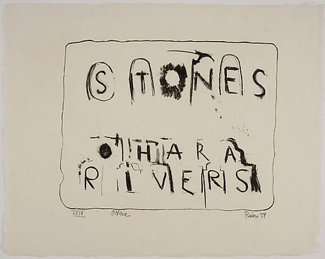 LARRY RIVERS and FRANK O'HARA Stones 1959 suite of thirteen lithographs 18 x 23 inches
