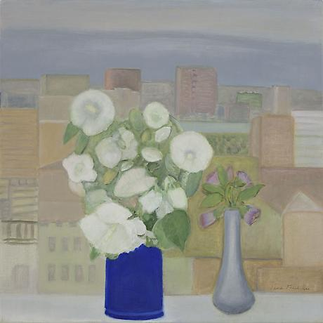 Study in Blue and Gray 2011 oil on linen 24 x 24 inches