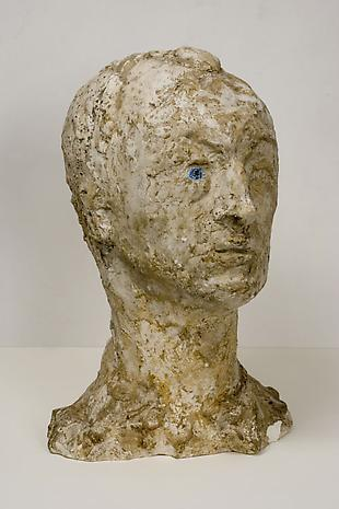 LARRY RIVERS Frank O'Hara c.1955 plaster 15 1/2 x 9 1/2 x 7 1/4 inches Private Collection