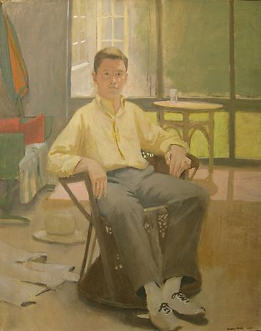 FAIRFIELD PORTER Portrait of James Schuyler 1955 oil on canvas 48 x 48 inches