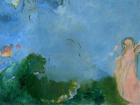 Person in a Landscape 1999 oil n canvas 36 x 48 inches
