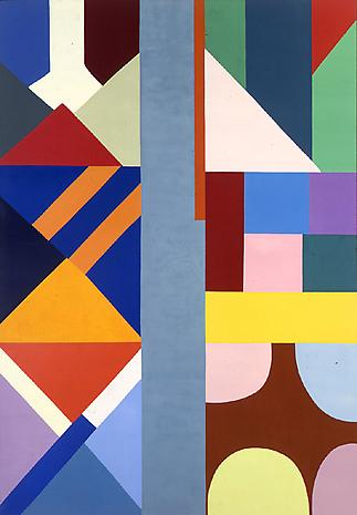 The Gray Center 1969 oil on canvas 76 3/4 x 51 1/4 inches (195 x 130 cm)