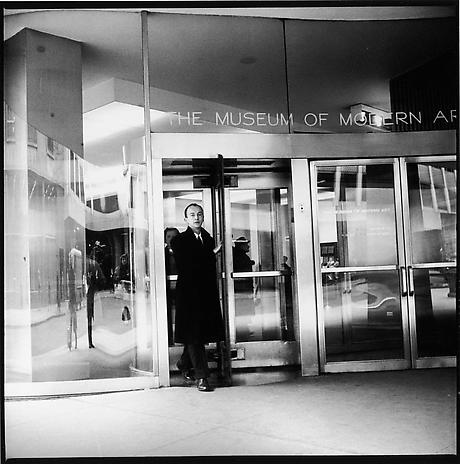 FRED W. McDARRAH Frank O'Hara at The Museum of Modern Art, New York 1960 gelatin-silver print 15 x 15 inches