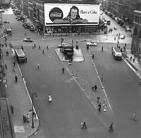 Astor Place 1948 gelatin silver print 10 x 8 inches