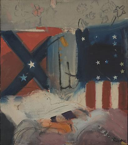 LARRY RIVERS Last Civil War Veteran 1961 oil on canvas 15 1/4 x 13 3/8 inches Private Collection