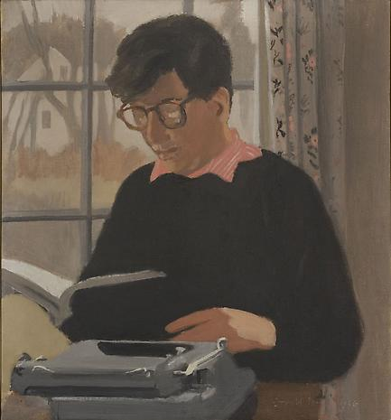 FAIRFIELD PORTER Kenneth Koch Reading 1966 oil on canvas 28 x 26 inches Private Collection