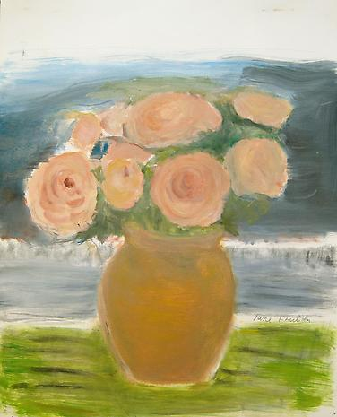 Roses in a Vase 2011 oil on linen 16 x 20 inches SOLD
