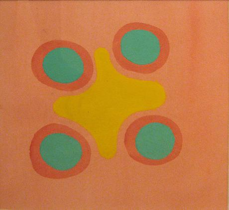 Edward Avedisian Untitled c.1970 gouache on paper 12 1/2 x 12 1/2 inches
