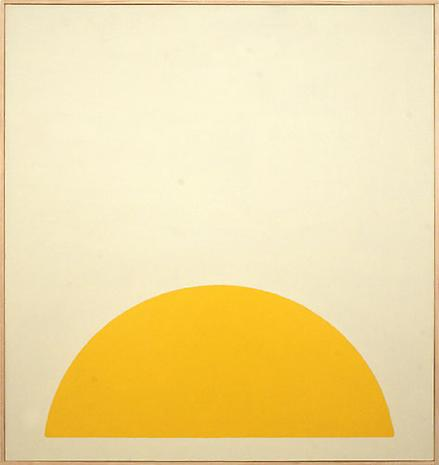 Darby Bannard Yellow Rose #1 1963 alkyd on canvas 62 x 62 inches