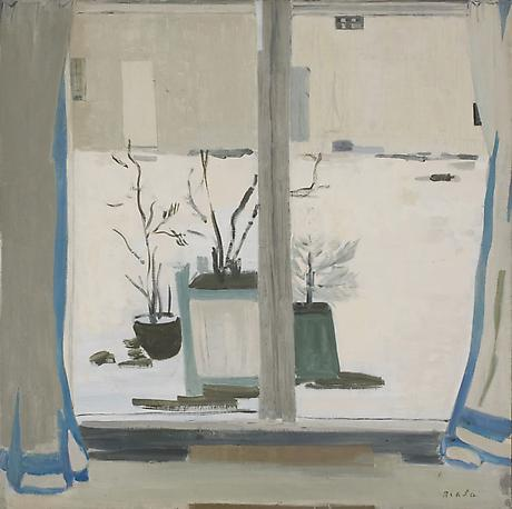 BIALA Snow in the Countryland 1976 oil on canvas 47 x 47 1/2 inches