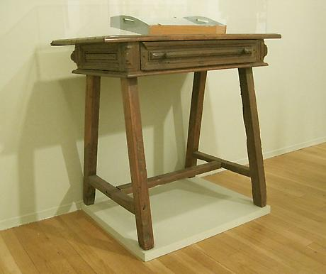 Elizabeth Bishop's small,  rustic Brazilian table 30 x 19 x 35 inches
