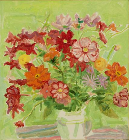Orange and Green Bouquet 1994 oil on canvas 27 x 21 inches
