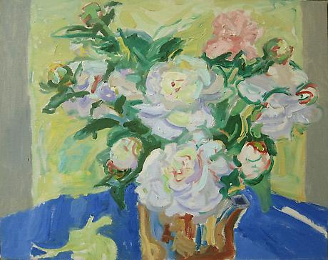 Peonies 1963 oil on canvas 20 x 24 inches