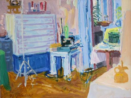 Studio Interior 1978 oil on canvas 12 x 16 inches