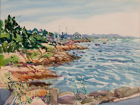 View From Tarr and Wonsons, I 1980 watercolor 18 x 24 inches