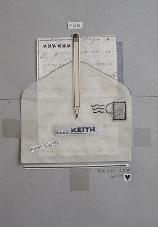 JOE BRAINARD Homage to Keith  series of ten pieces 1981 mixed media collage 6 ½ x 4 ½ inches
