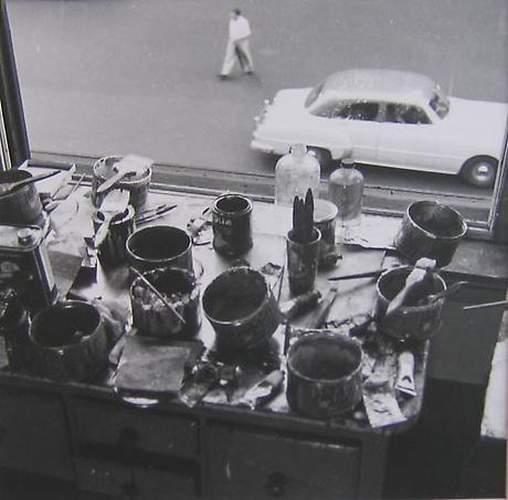 RUDY BURCKHARDT De Kooning Studio II 1950 gelatin-silver print
